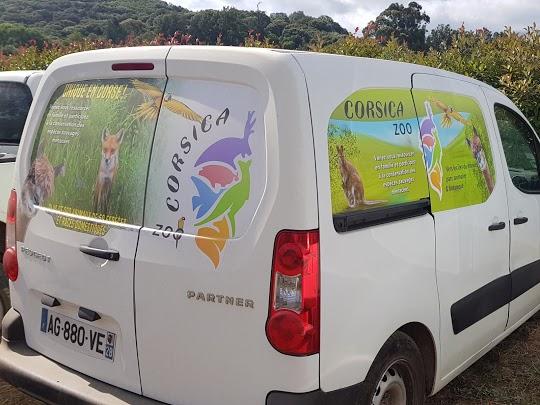 Marquage véhicule utilitaire pour CORSICA ZOO à Olmeta-di-Tuda, par l