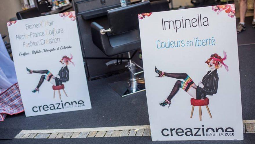 totems d'intérieur sur chevalet réalisés pour l'office de tourisme de Bastia à l'occasion du festival Creazione par l'équipe PANO Corse Régipub Biguglia ( Corse)