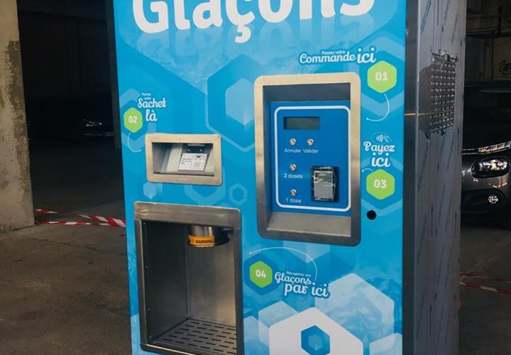 Habillage avec adhésif impression numérique de distributeurs de glaçons