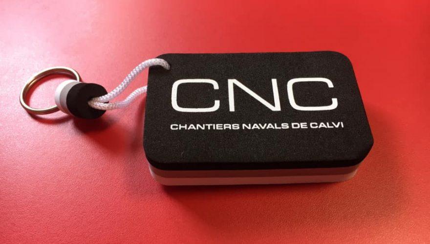 De nouveaux porte-clefs flottants pour CNC Chantiers Navals de Calvi par l'équipe PANO Bastia
