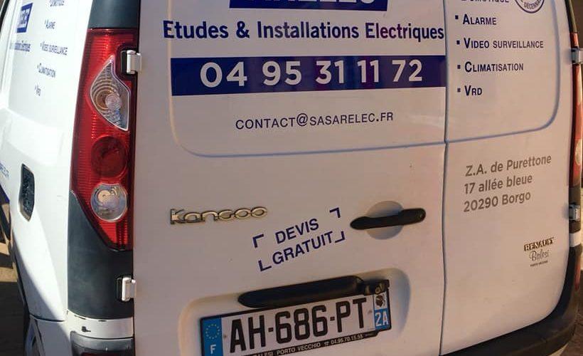 Marquage de véhicule pour Arelec Borgo par notre équipe Pano Bastia