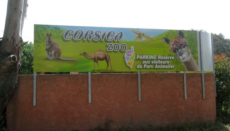 Pré-enseigne pour CORSICA ZOO par l