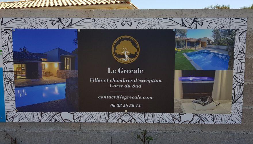 Création de visuels et fourniture de panneaux en composite aluminium pour Le Grécale à Pianotolli ! Par l'équipe PANO Bastia 🔴 #Panneau #Pano #Corsica #Signalétique
