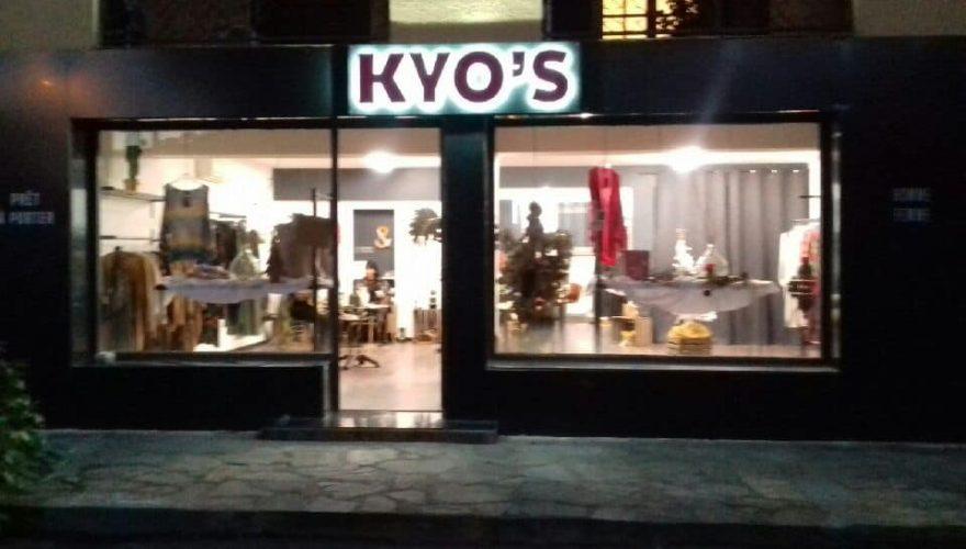 Enseigne lumineuse pour la boutique KYO'S à Ponte Leccia par l'équipe PANO Bastia