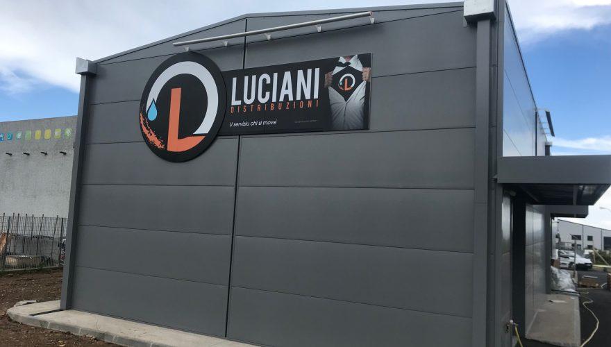 Enseigne tôle pliée pour la société Luciani Distribution à Biguglia